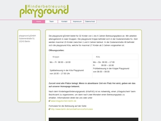 Vorschaubild der Webseite von Kindergarten Playground