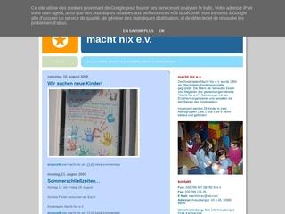 Vorschaubild der Webseite von Kindertagesstätte Macht nix e.V.