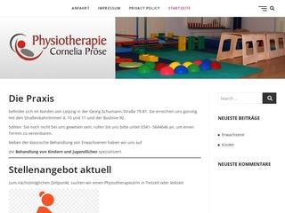 Vorschaubild der Webseite von Physiotherapie Cornelia Pröse