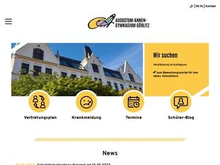 Vorschaubild der Webseite von Augustum-Annen-Gymnasium