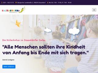 Vorschaubild der Webseite von Kindertagesstätte Kicherbohne