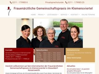 Vorschaubild der Webseite von Frauenärztliche Gemeinschaftspraxis im Klemensviertel