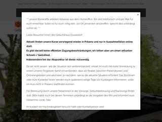 Vorschaubild der Webseite von Geburtshaus Düsseldorf