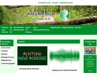 Vorschaubild der Webseite von Rheuma-Liga Sachsen e.V.