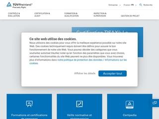 Vorschaubild der Webseite von TÜV Rheinland Oberschule Leipzig