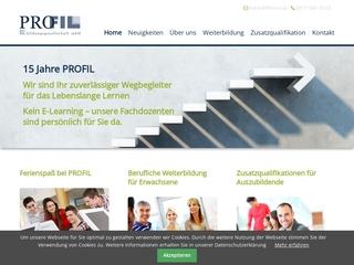 Vorschaubild der Webseite von PROFIL Bildungsgesellschaft mbH