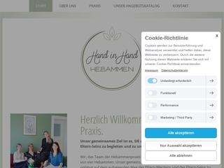 Vorschaubild der Webseite von Hebammenpraxis Hand in Hand