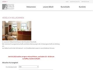 Vorschaubild der Webseite von Hebammenpraxis und klassische Homöopathie GbR