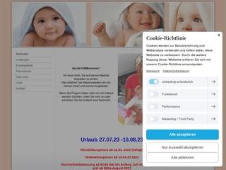 Vorschaubild der Webseite von Hebamme Annett Heiner-Schweski