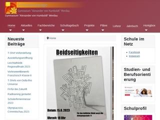 Vorschaubild der Webseite von Gymnasium Alexander von Humboldt