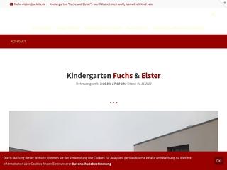 Vorschaubild der Webseite von Kindertagesstätte  Fuchs und Elster