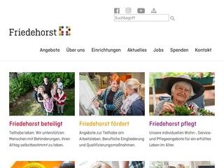 Vorschaubild der Webseite von Stiftung Friedehorst - Dienste für Menschen mit Behinderung Friedehorst gGmbH