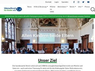 Vorschaubild der Webseite von Väteraufbruch für Kinder e.V. - Beratung für Trennungseltern und Väter