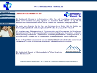 Vorschaubild der Webseite von Sanitätsschule Chemnitz / Sa.