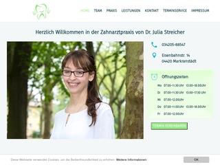 Vorschaubild der Webseite von Zahnärztliche Praxis Diplom Stomatologin Andrea Scharf