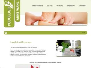 Vorschaubild der Webseite von Podologin Anke Wolf
