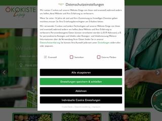 Vorschaubild der Webseite von Ökokokiste-Leipzig