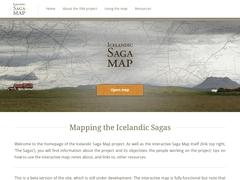 Icelandic Saga Map