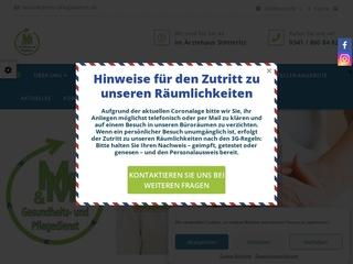 Vorschaubild der Webseite von MM Gesundheits- und Pflegedienst GmbH