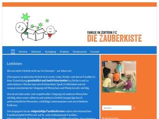 Vorschaubild der Webseite von Kindertagesstätte Zauberkiste
