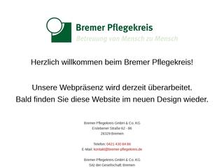Vorschaubild der Webseite von Bremer Pflegekreis GmbH & Co. KG