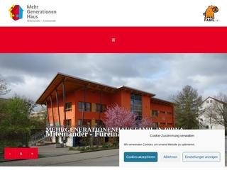Vorschaubild der Webseite von MehrGenerationenHaus und Begegnungsstätte des FAMIL e.V.