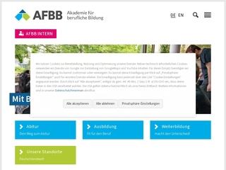 Vorschaubild der Webseite von Berufsschule und Fachoberschule für Wirtschaft der AFBB gGmbH
