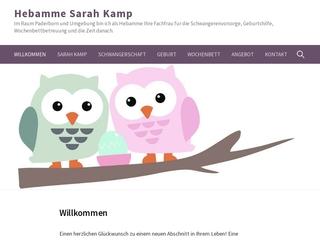 Vorschaubild der Webseite von Hebamme Sarah Schulz