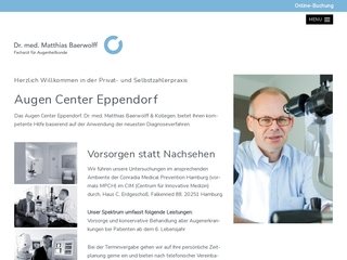 Vorschaubild der Webseite von Augencenter Eppendorf