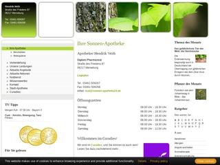 Vorschaubild der Webseite von Apotheke in der Schlosspassage