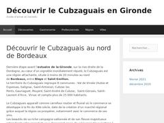 Cubzaguais tourisme