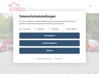 Vorschaubild der Webseite von Fahrdienst Pflegedienst Christel
