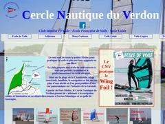 Le site du Cercle Nautique du Verdon