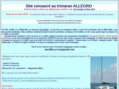 Site consacré au trimaran Allegro