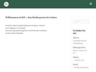 Vorschaubild der Webseite KIS - Kinderhaus Iserbrook-Sülldorf