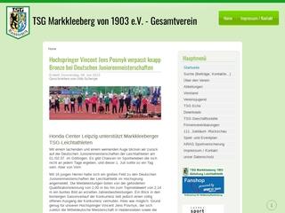 Vorschaubild der Webseite TSG Markkleeberg von 1903 e.V.