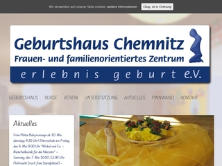 Vorschaubild der Webseite von Geburtshaus Chemnitz Erlebnis Geburt e.V.