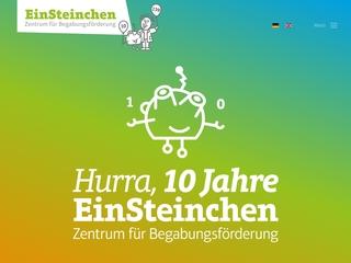 Vorschaubild der Webseite von Kindertagesstätte EinSteinchen