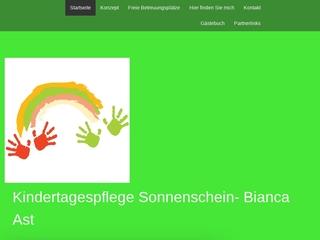 Vorschaubild der Webseite von Kindertagespflege Sonnenschein