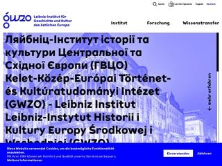 Vorschaubild der Webseite von Geisteswissenschaften Zentrum Geschichte und Kultur Ostmitteleuropa