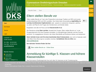 Vorschaubild der Webseite von Gymnasium Dreikönigschule