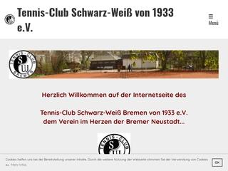Vorschaubild der Webseite von Tennis-Club Schwarz-Weiß von 1933 e.V.
