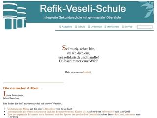 Vorschaubild der Webseite von Refik-Veseli-Schule
