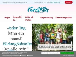 Vorschaubild der Webseite von Kunst-Kindertagesstätte