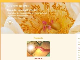 Vorschaubild der Webseite von Raum für geistig-energetische Heilung