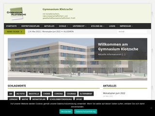 Vorschaubild der Webseite von Gymnasium Klotzsche