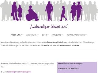 Vorschaubild der Webseite von Lebendiger Leben e.V.