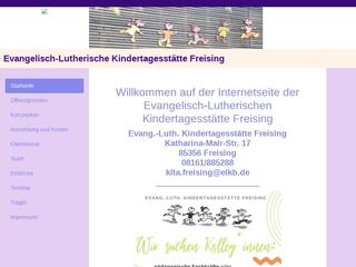 Vorschaubild der Webseite von Evang. Kinderkrippe