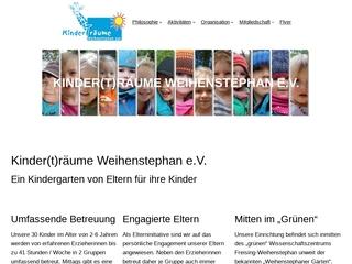 Vorschaubild der Webseite von Kinderträume Weihenstephan e.V.