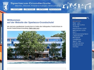 Vorschaubild der Webseite von Spartacus-Grundschule